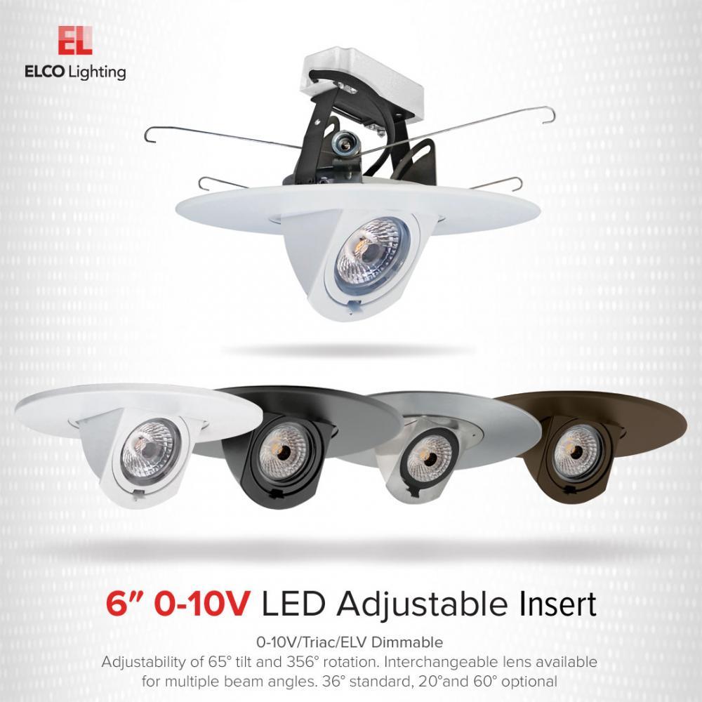 6″ 0-10V Adjustable LED Inserts
