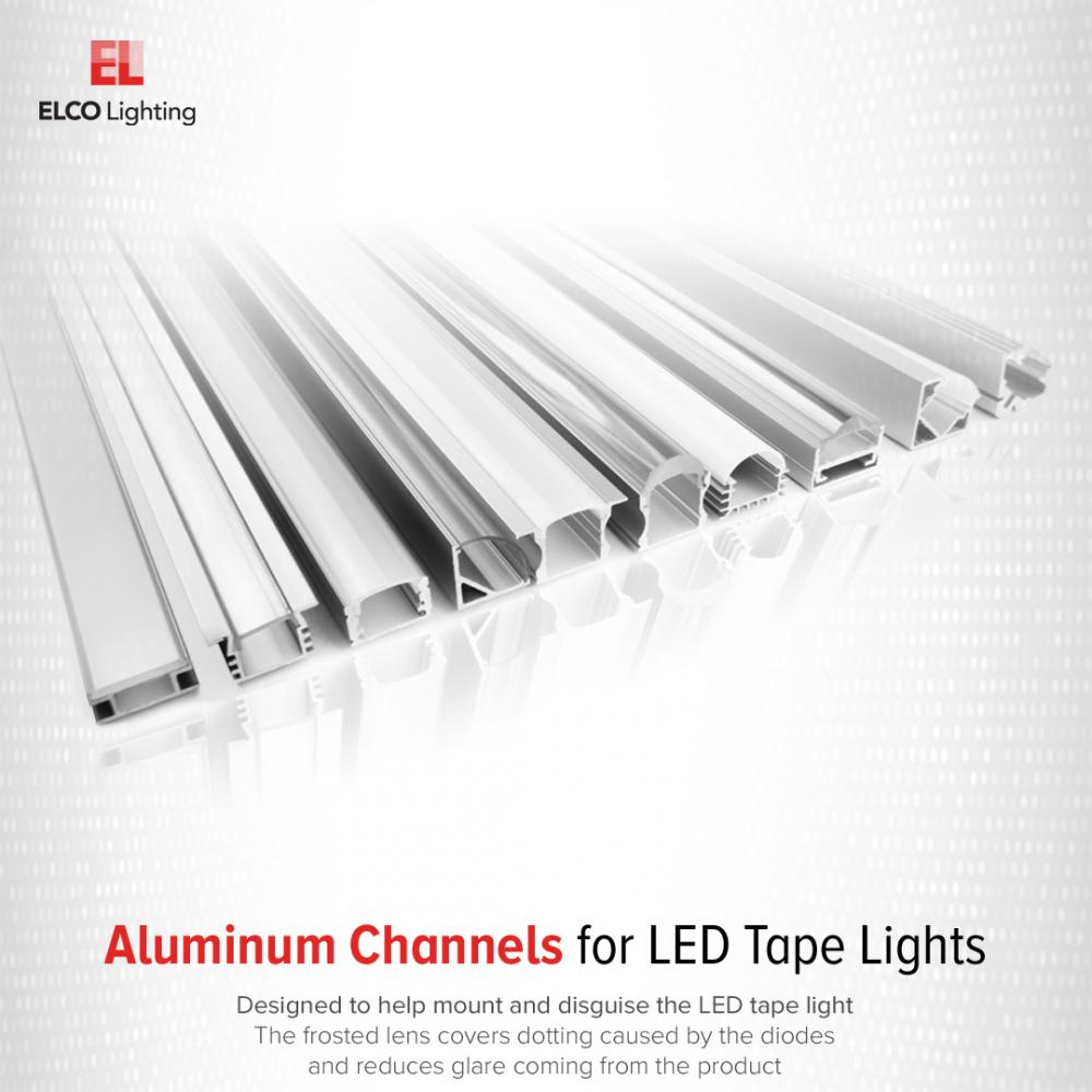 LED Tape with Square Corner Mount Aluminum Channel