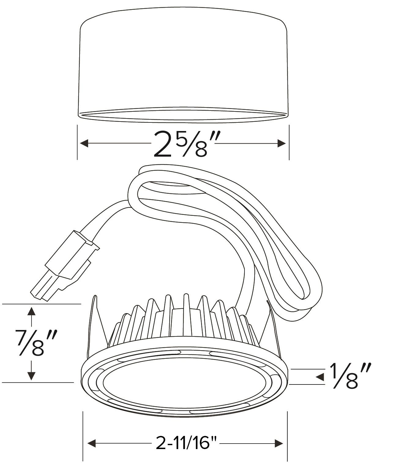 undercabinet pucks  xyris u2122 mini led puck light