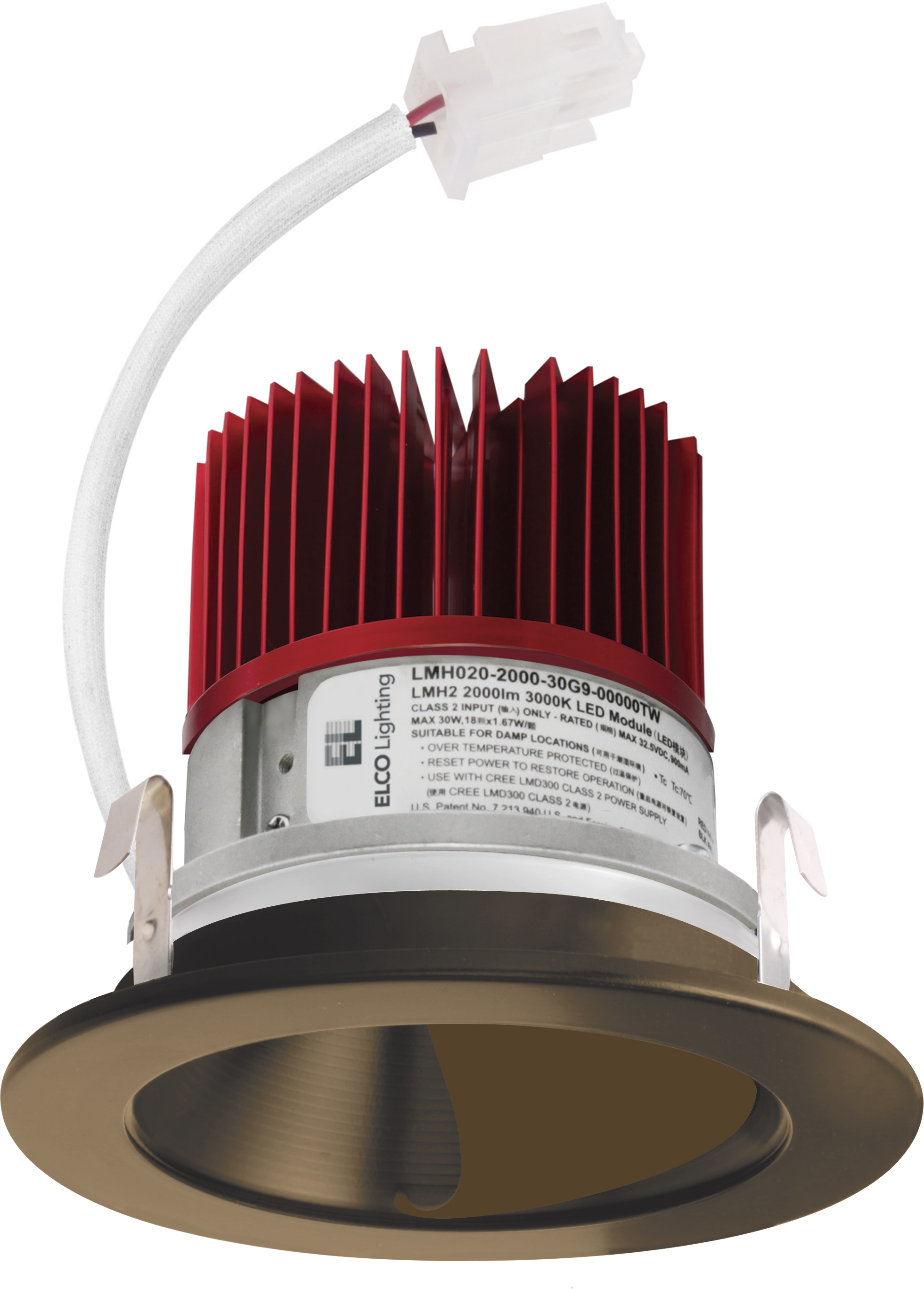 4 Quot Led Light Engine With Wall Wash Reflector Trim Elco
