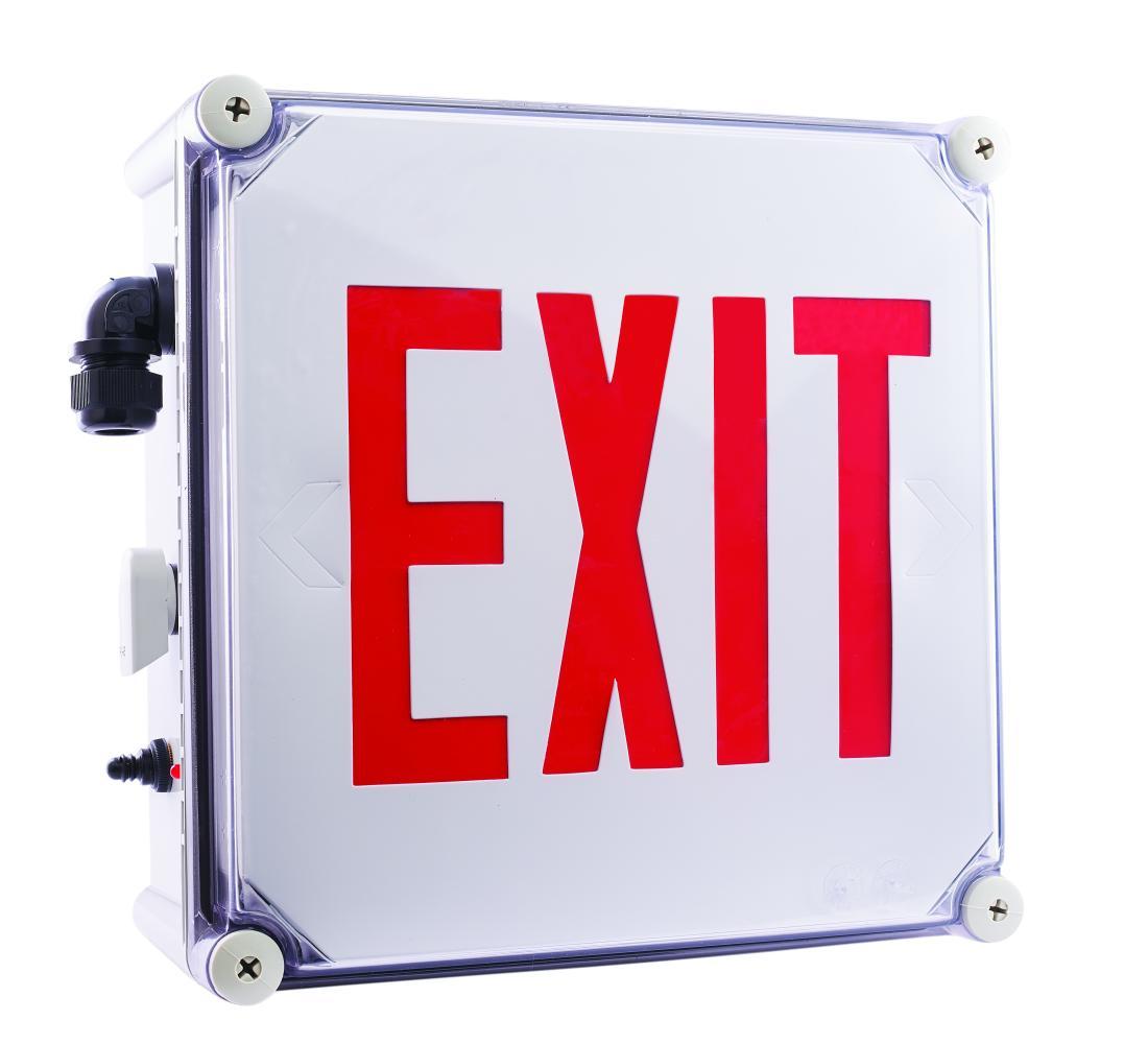 Weatherproof Led Exit Sign Elco Lighting Wiring Diagram 120v 277v