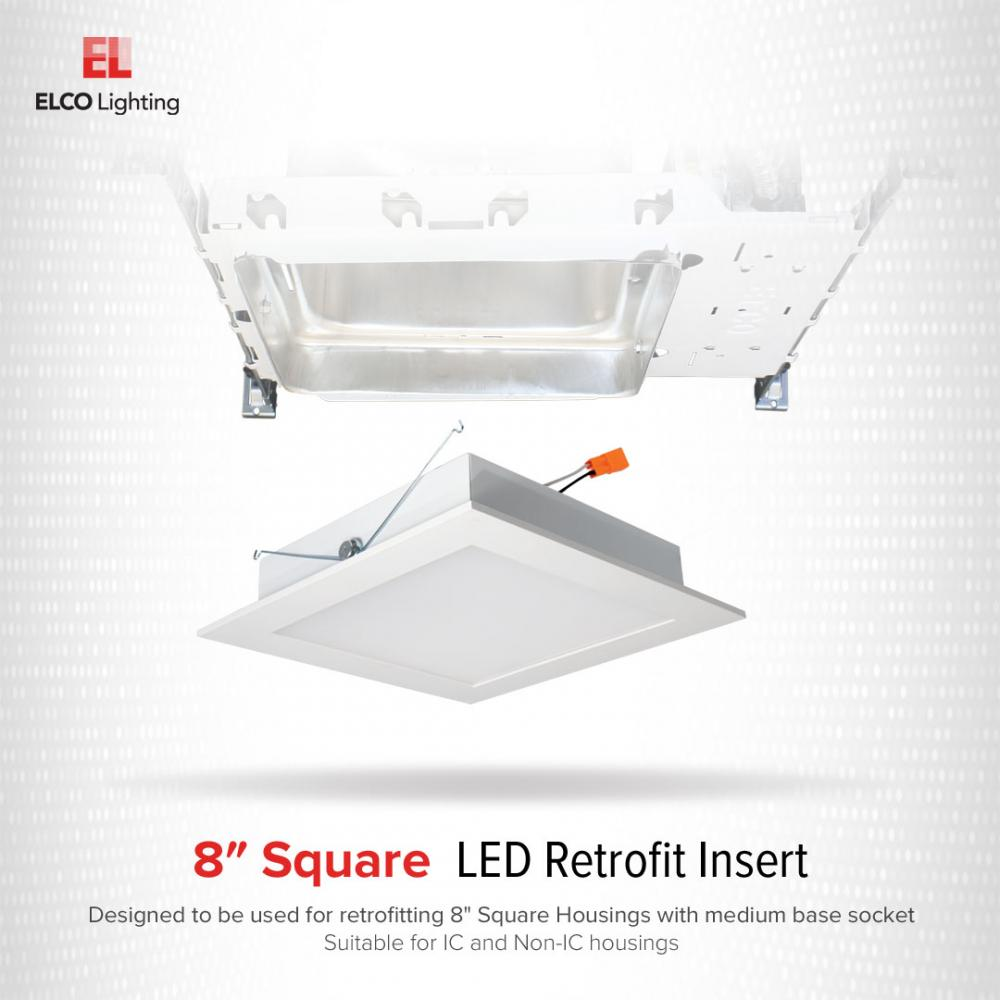 "8"" Square LED Retrofit Insert"