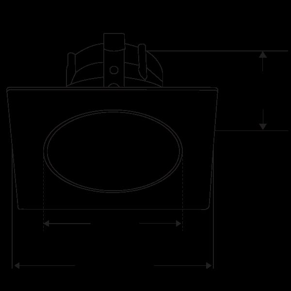 Pex™ 3″ Square Deep Reflector