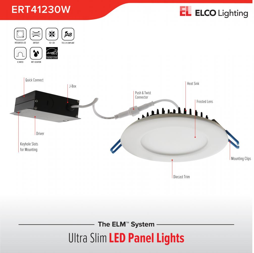 "4"" Ultra Slim LED High Lumen Round Panel Light"