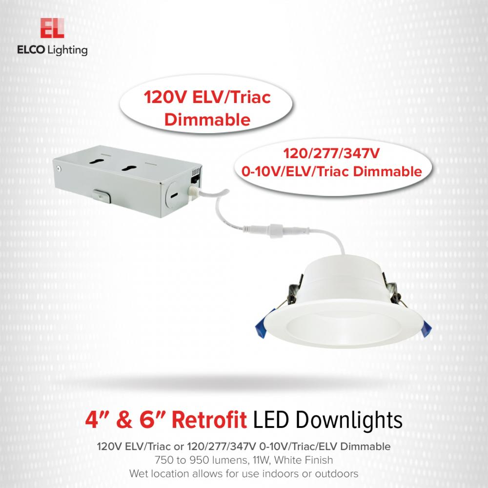"4"" LED Recessed Downlights with 5-CCT Switch"