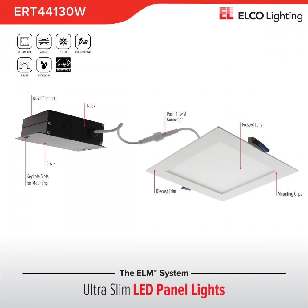 "4"" Ultra Slim LED Square Panel Light"