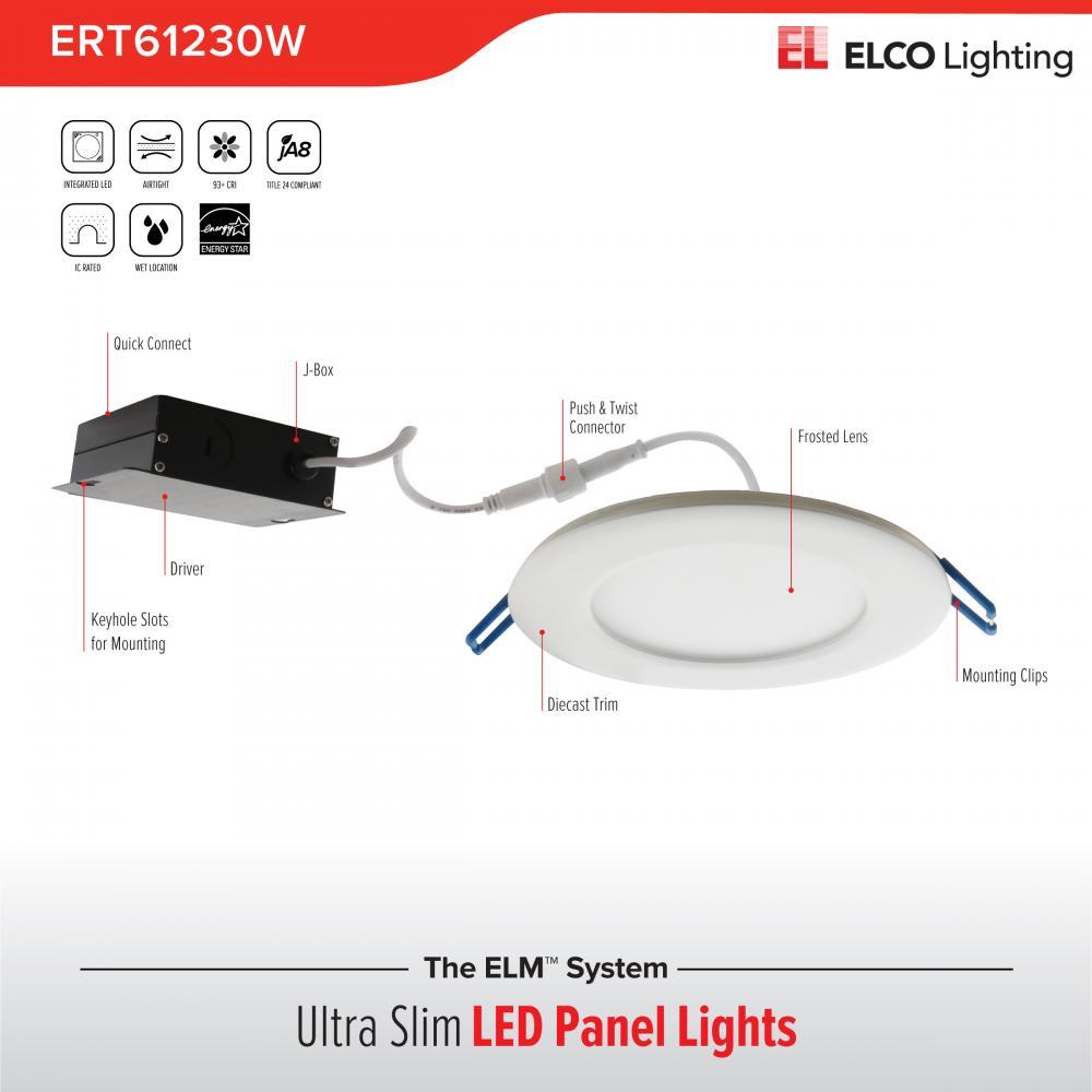 6 Quot Ultra Slim Led High Lumen Round Panel Light Elco Lighting