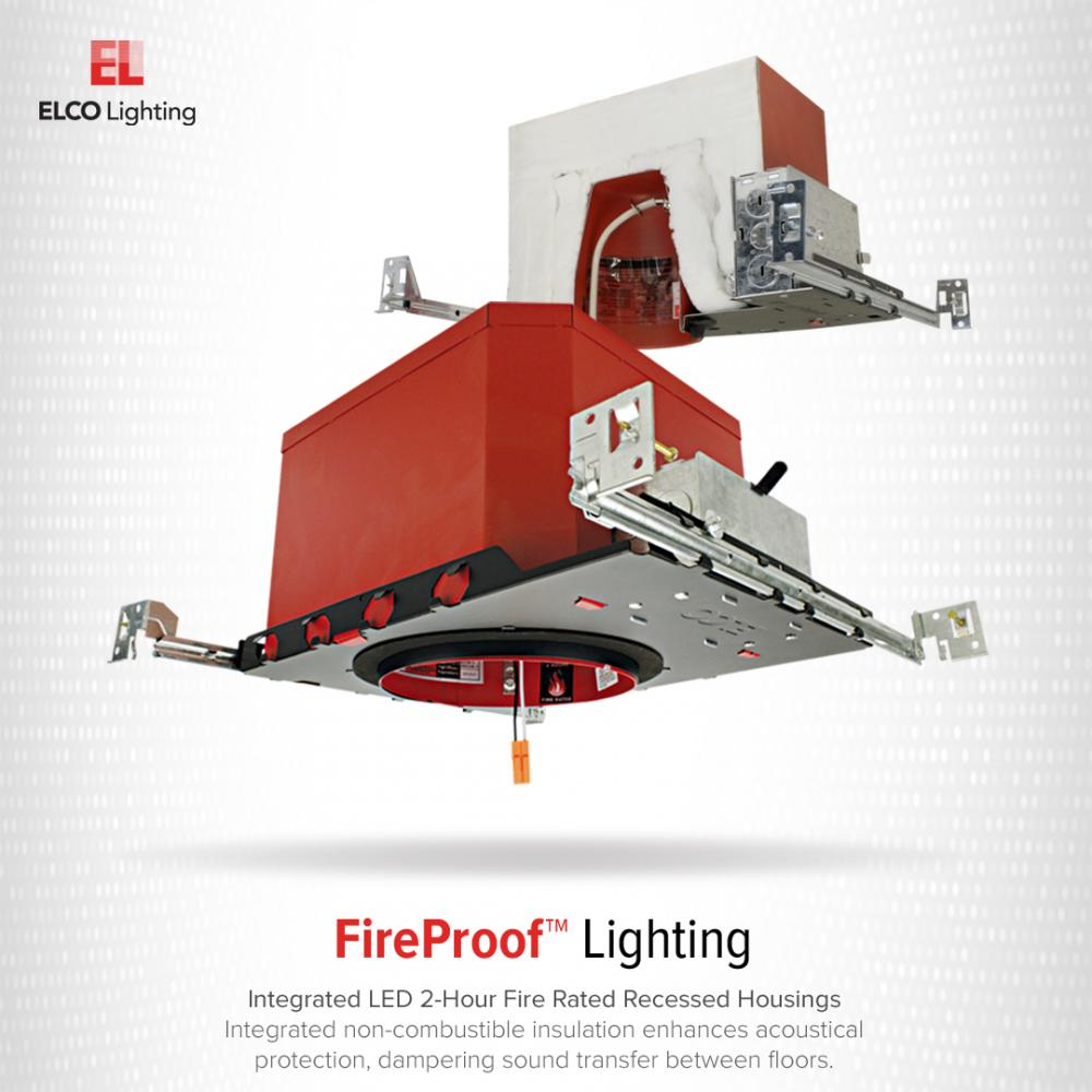 4″ LED Fire Rated New Construction IC Airtight Housing