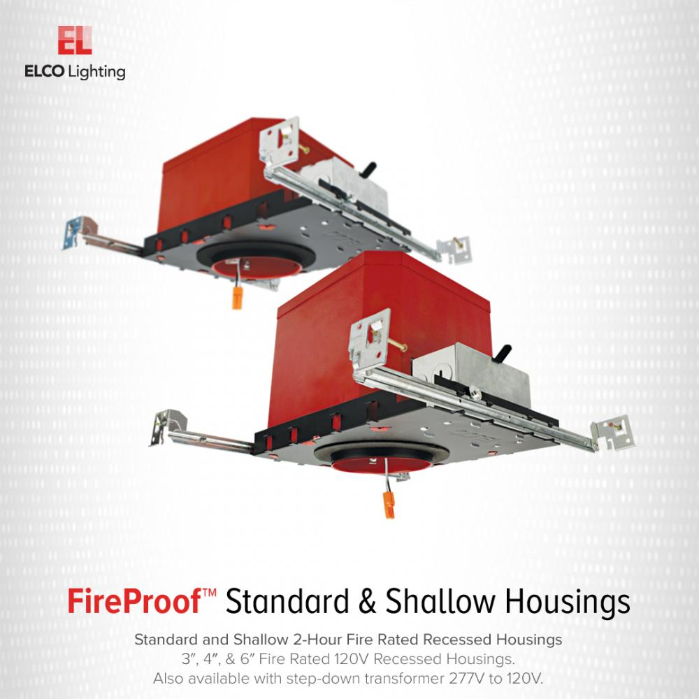 """4""""  IC Airtight New Construction 2-Hour Fire Rated Housing"""