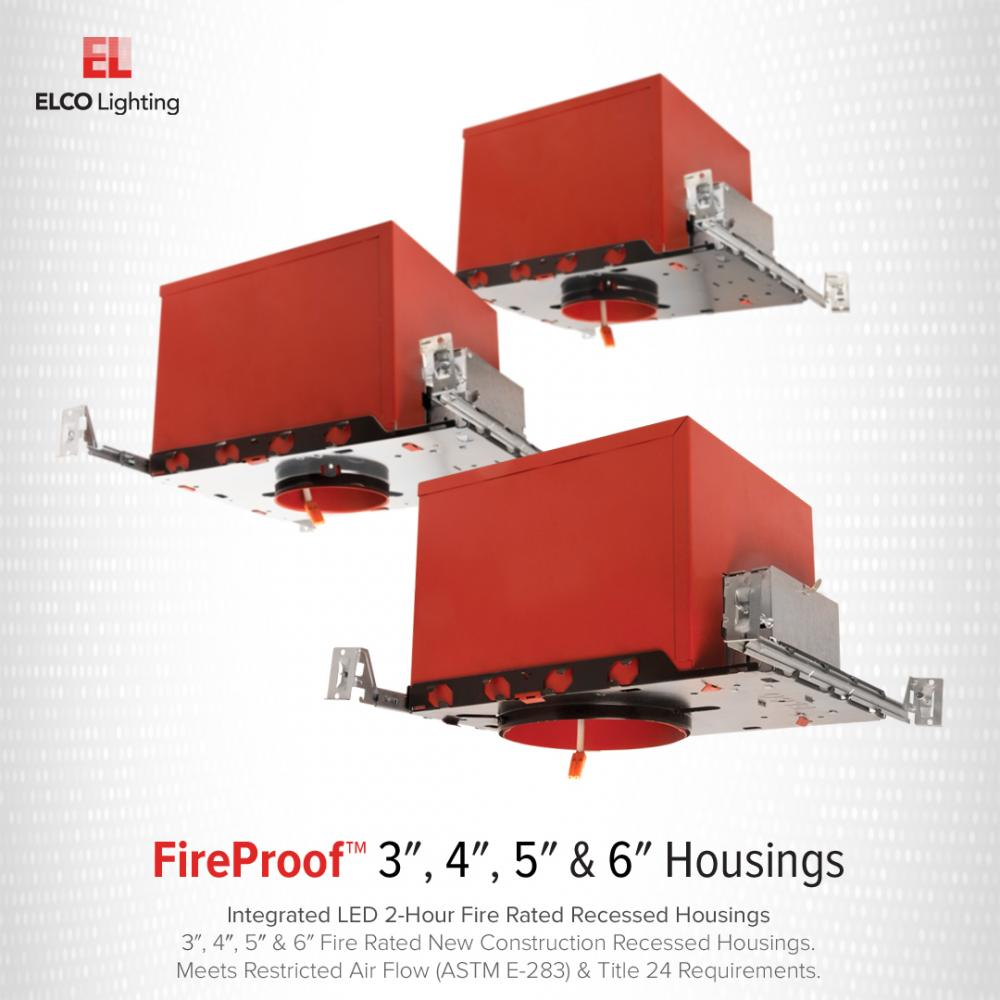 3″ New Construction 2-Hour Fire Rated IC Airtight Housing