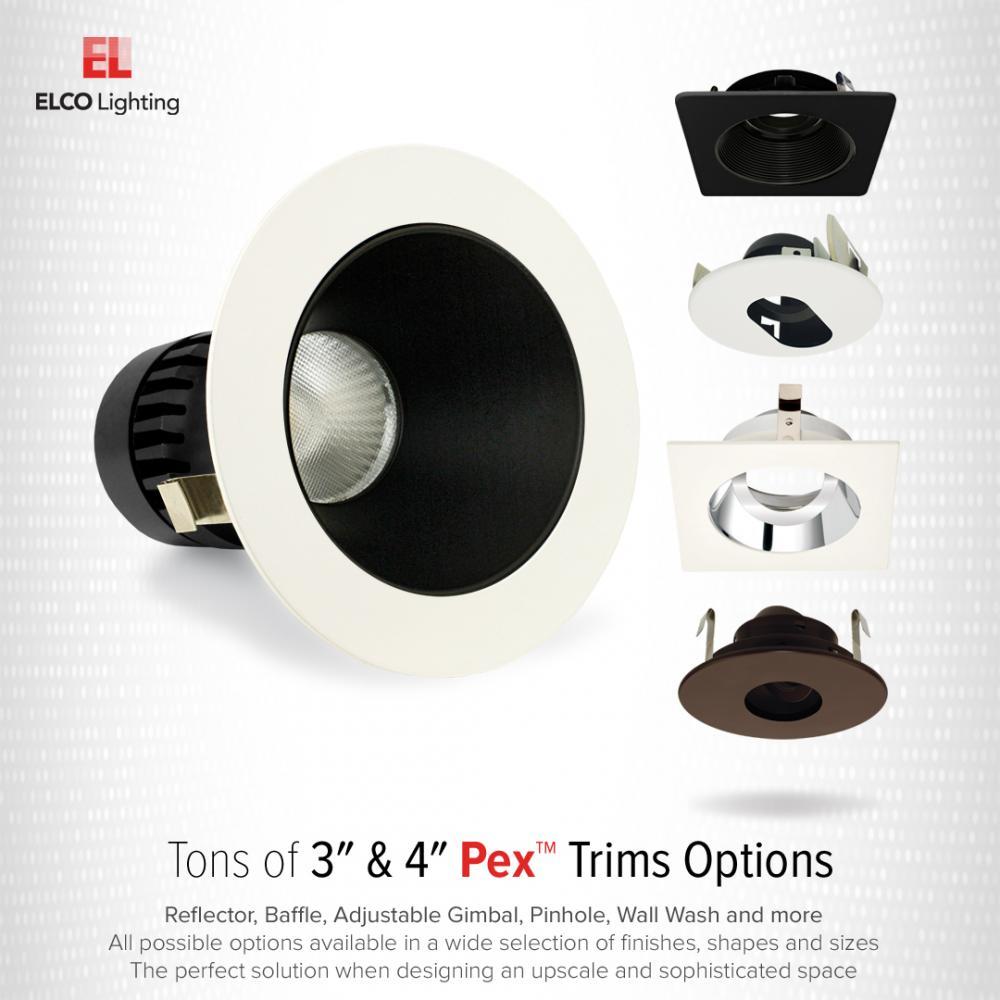 Pex™ 3″ Square Adjustable Baffle