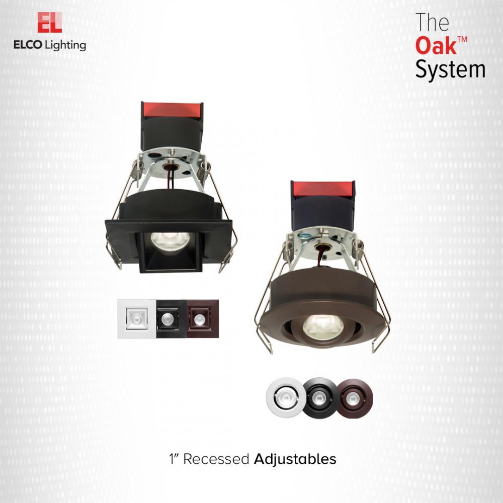 "1"" Round Recessed Adjustable Oak™ Gimbal"