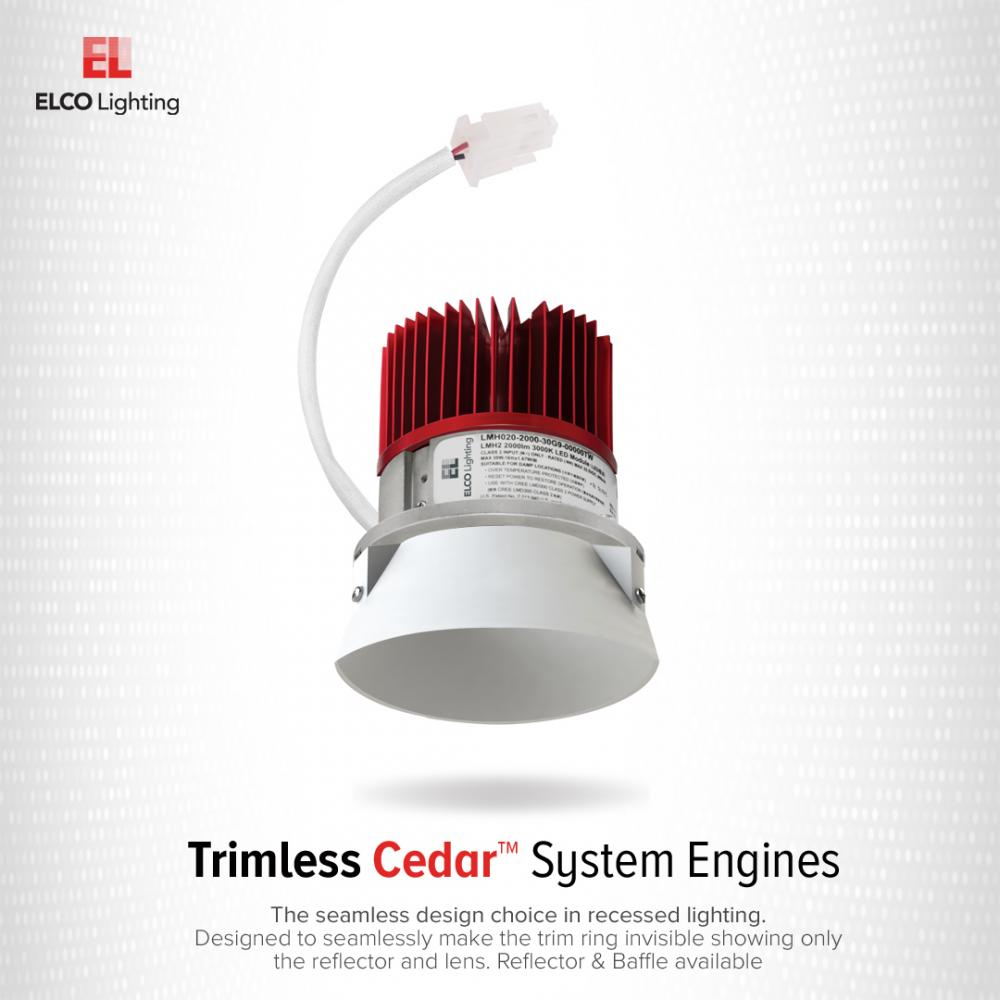 """4"""" LED Light Engine with Trimless Reflector"""