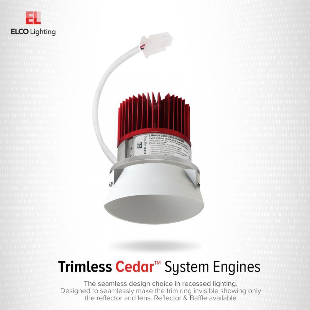 """4"""" LED Light Engine with Trimless Baffle"""