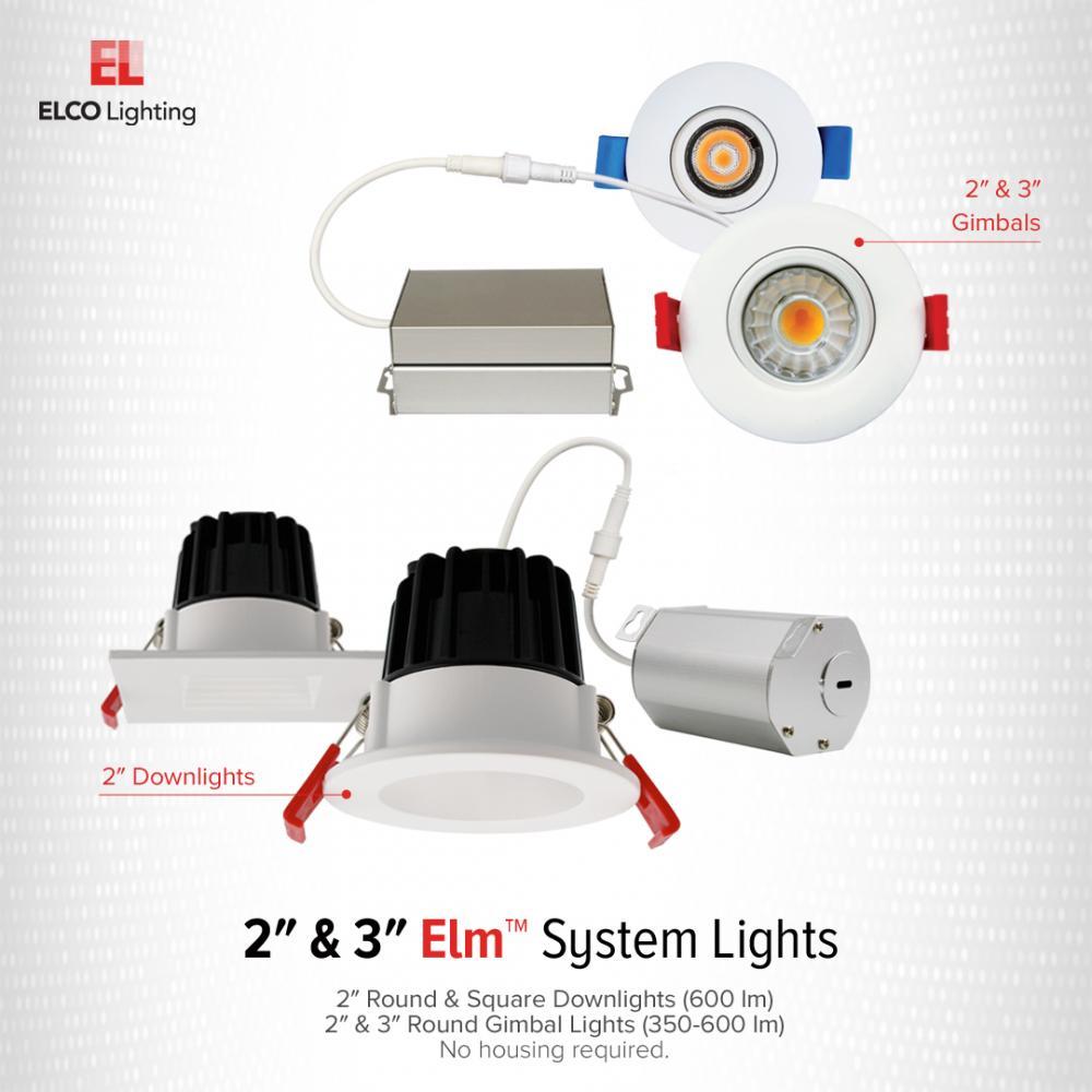 2″ LED Round Baffle