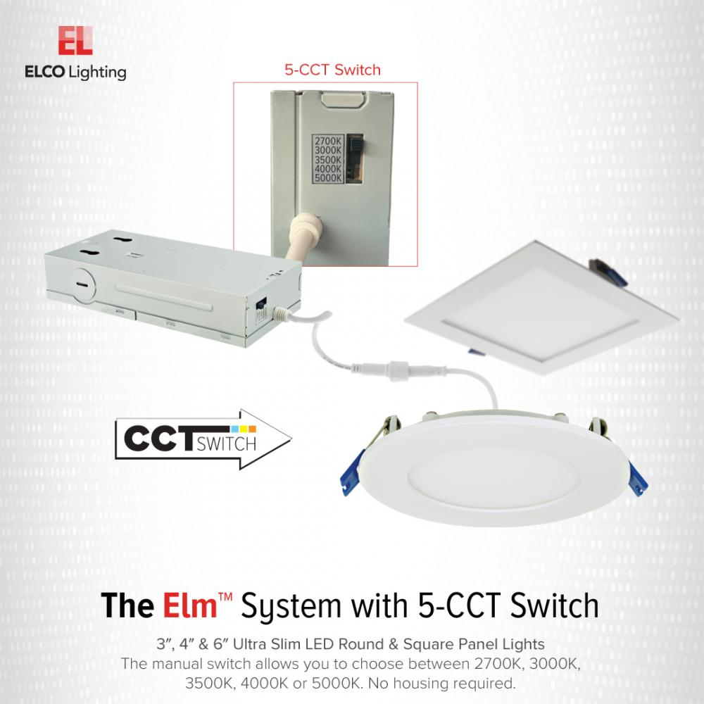 """4"""" Ultra Slim LED Round Panel Light with 5-CCT Switch"""