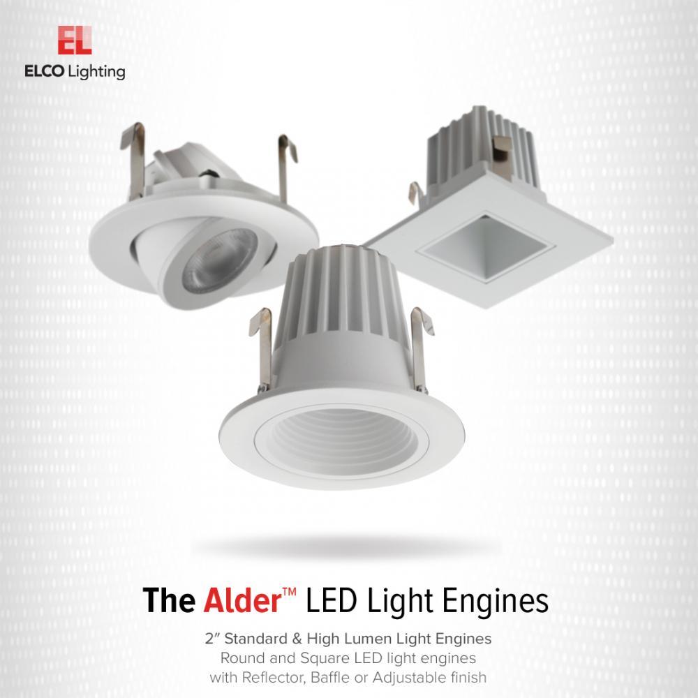 """2"""" Square LED High-Lumen Adjustable Light Engine"""