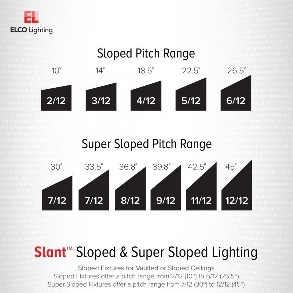 6 Super Sloped Ic Airtight Medium Base Double Wall New Construction Housing Elco Lighting