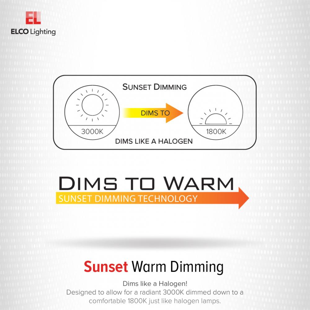 """5"""" or 6"""" Sunset Dimming LED Reflector Insert"""