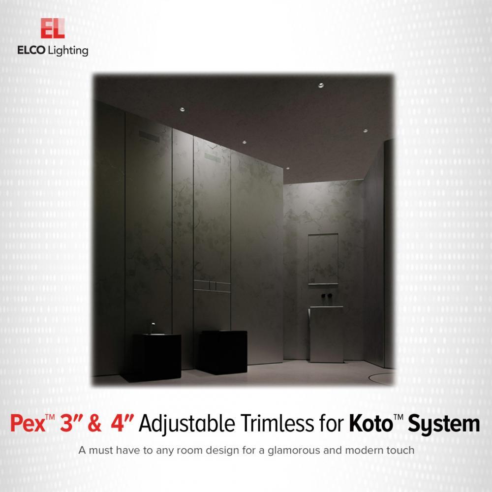 Pex™ 4″ Square Trimless Smooth Reflector Trim