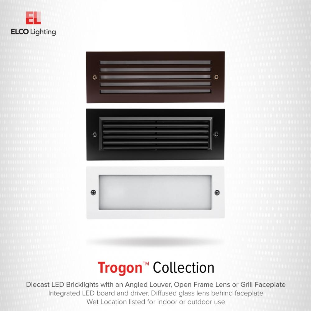 LED Brick Light with Grill Faceplate
