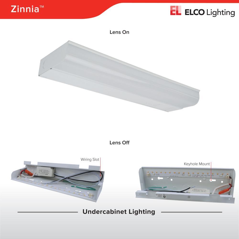Zinnia Led Undercabinet Lights Elco Lighting Wiring