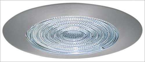 "Fresnel Glass Restoration Bath Light: 4"" Shower Trim With Fresnel Lens"