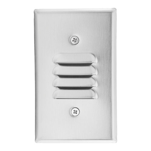 Elco Lighting ELST61B 120V Incandescent Mini Step Light with Louvered Faceplate