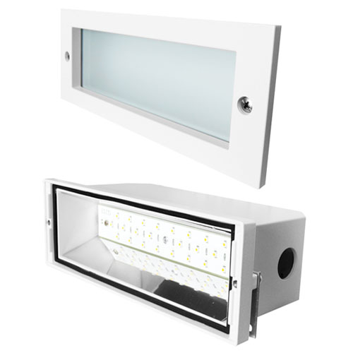 Elco Lighting ELST83B LED Brick Light with Open Faceplate