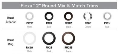 "2"" Round Flexa™ Interchangeable Reflector Trims"