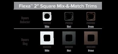 "2"" Square Flexa™ Interchangeable Reflector Trims"