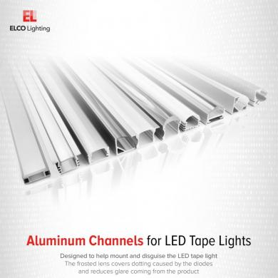 Shallow Recessed Mount Aluminum Channel