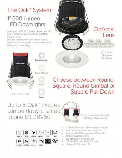 "1"" Round Recessed Oak™ Downlight"
