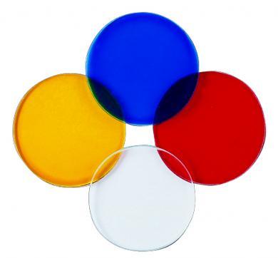 Clear Lens, Red Lens, Yellow Lens, Blue Lens