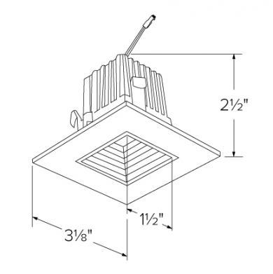 """2"""" Square LED High-Lumen Baffle Light Engine"""