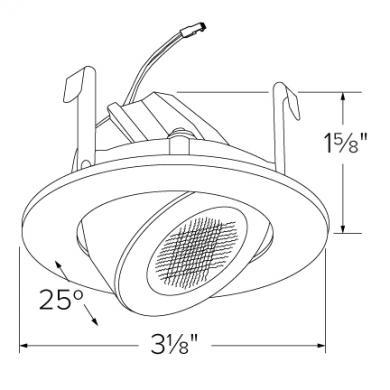 "2"" Round LED High-Lumen Adjustable Light Engine"