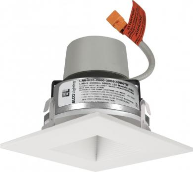"4"" LED Module & Driver with Square on Square Baffle Trim"