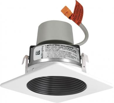 "4"" LED Module & Driver with Square Baffle Trim"