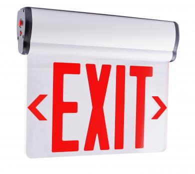 Led Edge Lit Exit Sign Elco Lighting