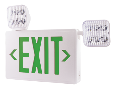 LED Exit Sign and LED Emergency Light Combo