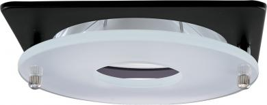 """4"""" Square Suspended Frosted Glass Trim"""