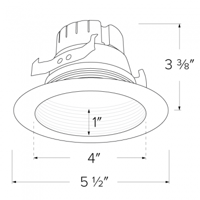 4″ Five-Color Temperature Switch LED Baffle Inserts