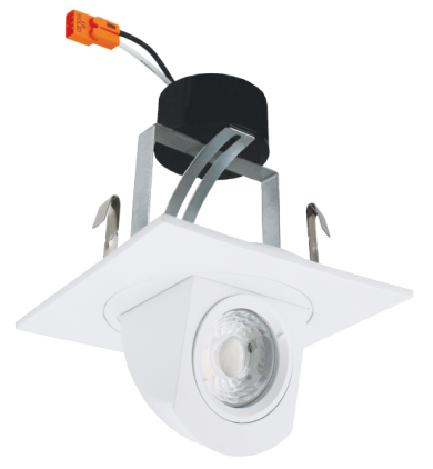 """4"""" Square LED Adjustable Pull-Down Insert (2nd Generation)"""