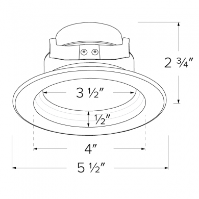 4″ LED Shallow Baffle Inserts with 5-CCT Switch