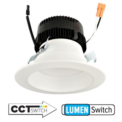 4″ 0-10V LED Inserts with 5-CCT and 3-Lumen Switch