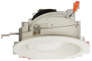 """6"""" Round LED Adjustable Phenolic Baffle with PAR38 Gimbal Insert"""