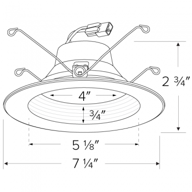 """5""""/6"""" LED Shallow Baffle Inserts with 5-CCT Switch"""