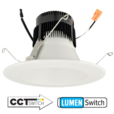 6″ 0-10V LED Inserts with 5-CCT and 3-Lumen Switch