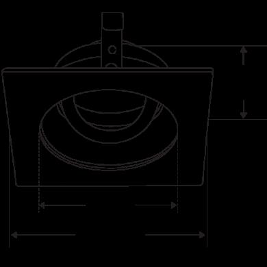 Pex™ 3″ Square Adjustable Gimbal