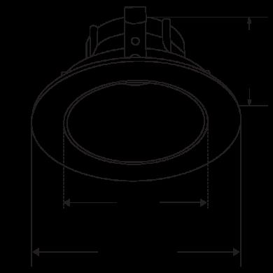 Pex™ 3″ Round Deep Reflector